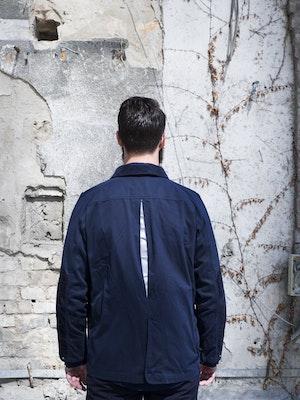 Paria Hjul Navy Waxed Cotton Jacket