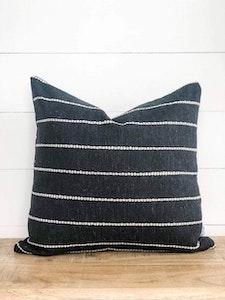 Cushion Cover - Striped Onyx