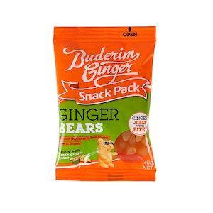 Buderim Ginger Bears Chewable Treat Snack Pack 40g