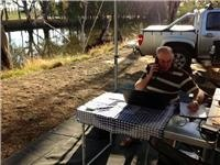 GoSeeAustralia solar  powered office on the road.