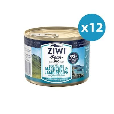 ZiwiPeak ZIWI Peak Cat Mackerel & Lamb Recipe Can 185G X 12