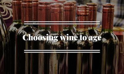 Choosing wine to age
