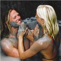 German couple enjoy Hells Gate mud spa