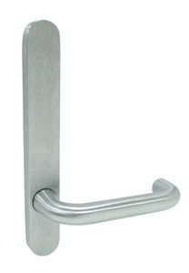 dormakaba narrow style outer round end plate & 25 lever concealed fixing in SCP finish