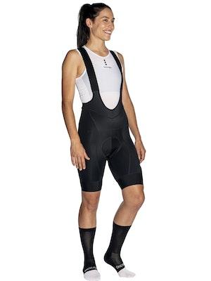 OnceUpon A Ride PURE BLACK Bib Shorts Woman