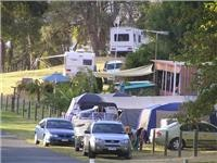 Boats, caravans, motorhomes, cabins and tents at Lake Hume Tourist Park, GoSeeAustralia pic.