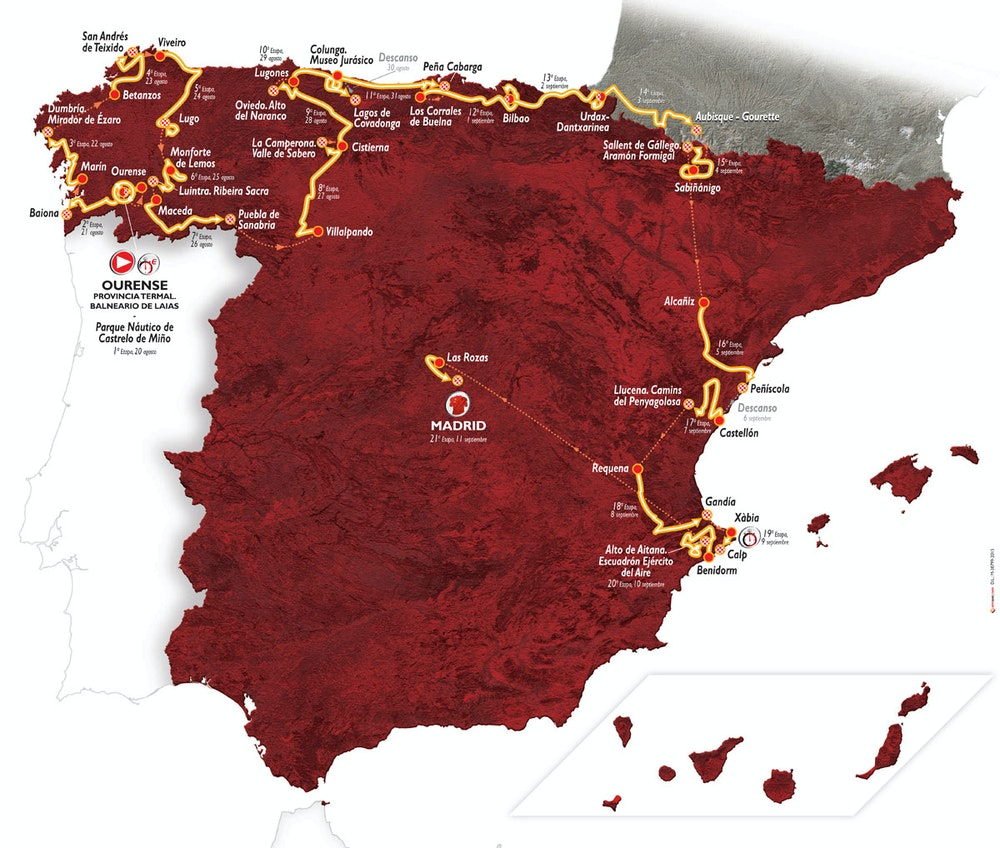 vuelta map 2016 Bikeexchange