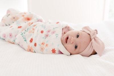 Bubba Bump Baby Bloom Bamboo Muslin Wrap