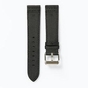 Time+Tide Watches  Black + Black Stitch Nylon Sail Cloth Watch Strap