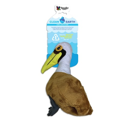 Spunky Pup Clean Earth Plush Pelican Dog Squeaker Toy - 2 Sizes
