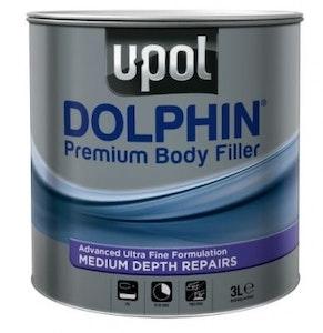 Premium Dolphin Body Filler 3Lt with Hardener