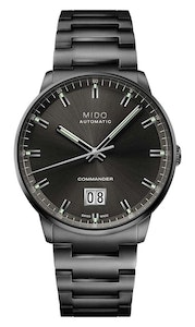 Mido Commander Big Date - Stainless Steel with Anthracite PVD - Stainless Steel with Anthracite PVD Bracelet