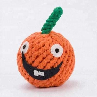 DoggyTopia Halloween Pumpkin Rope Dog Toy