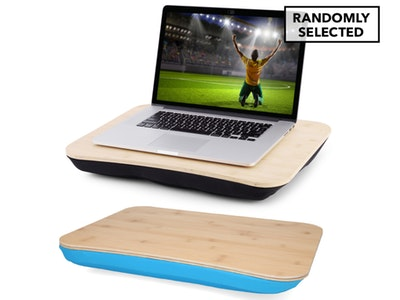 Boutique Medical Portable Deluxe Bamboo Laptop PC Table Lap Tray Read Workstation