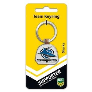Creative Keys NRL Team Logo Key Ring - Cronulla Sutherland Sharks
