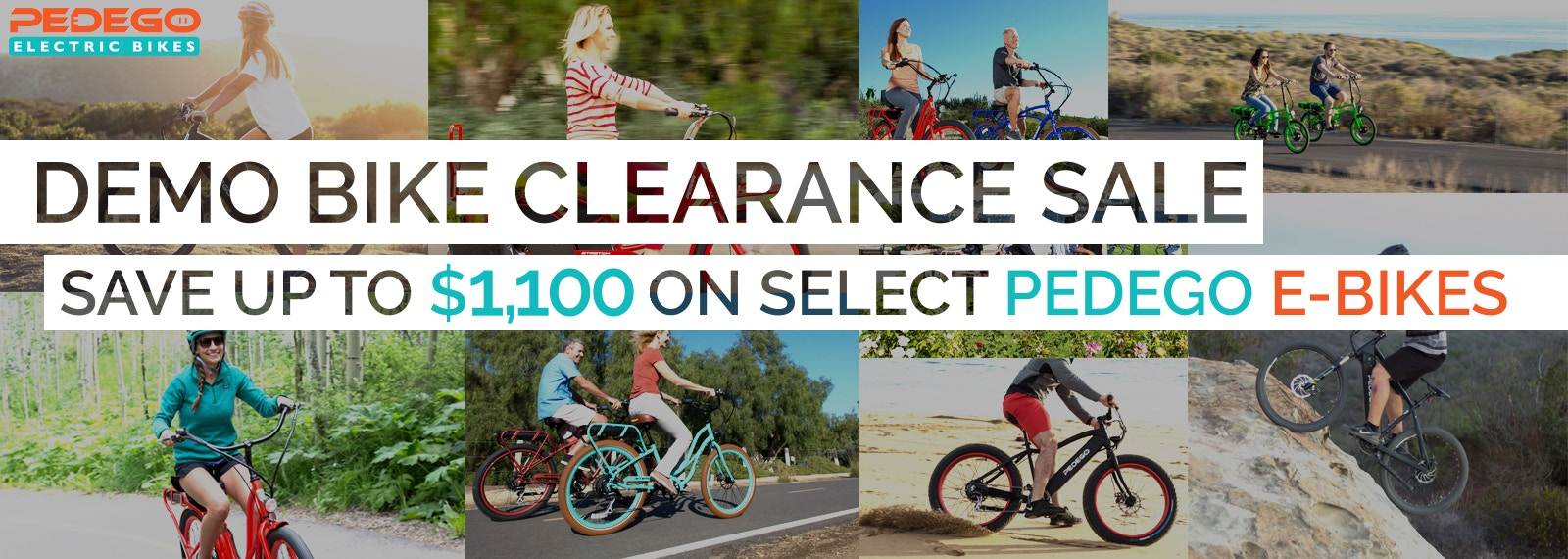 Save up to $1,100 off your next Pedego E-Bike!