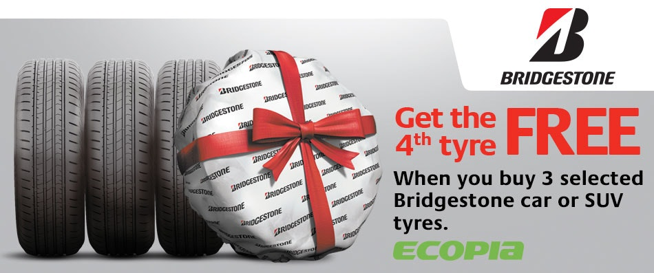 Bridgestone Buy 3 Get 1 Free Promotion