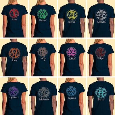 Interstellar Beverages Zodiac Symbol T-shirt