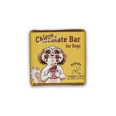 Veggie Paws Chocolate (Carob) Bar for Dogs - Banana
