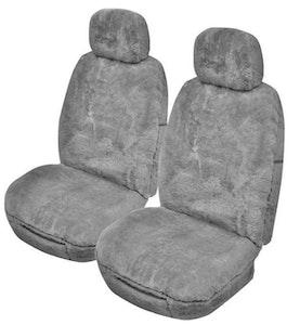 Alpine Sheepskin Seat Covers 25Mm (Pair) Airbag Safe | Grey