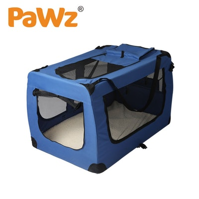 PaWz Pet Travel Carrier Kennel Folding Soft Sided Dog Crate For Car Cage Large L