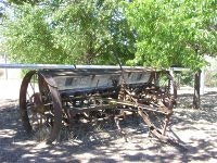 A battered seeder at Lanyon Homestead ACT