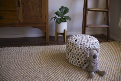 Play Pouch Splotches Ottoman - Green & Grey