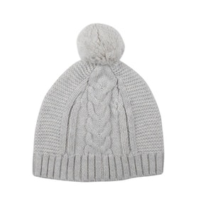 Jujo Baby Lighterweight Cable Beanie - Silver