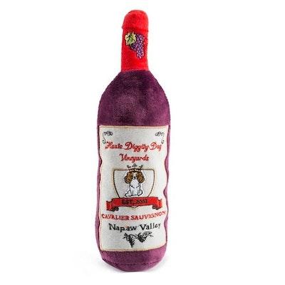 Haute Diggity Dog Cavalier Sauvignon Wine Bottle Dog Toy