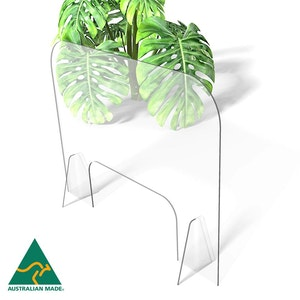 Regal by Anh Hoang Sneeze Guard Clear Acrylic Protective Shield / Screen with Stand (765W x 600H)
