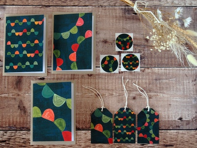 Greeting card set - Garden Party