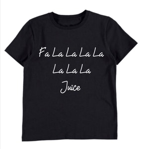 Fa La La Juice Black Tee