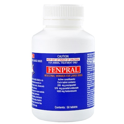 Fenpral Intestinal Allwormer Tablets for Large Dogs 50 Pack