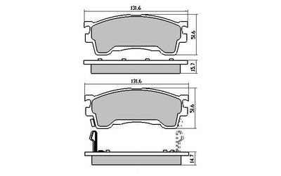 RDA GP MAX FRONT BRAKE PADS for MAZDA 323 PROTEGE BJ 9/1998-12/2003 RDB1362