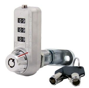KSQ Ultra Combination Cam Lock with Master Override Key and Code Discovery Feature