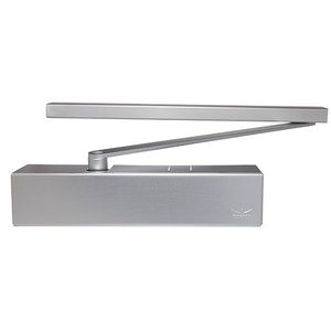 Dorma TS93B Slide Arm Door Closer with Adjustable Power and Back Check for Pull Side Finished in Silver