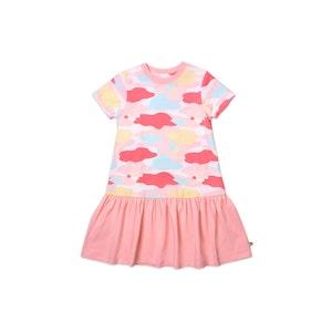 OETEO Australia Camo Flash Drop Waist Ruffle Dress (Pink)