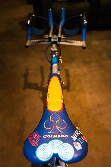 Fabio s Colnago Mapei Collection saddle detail 2