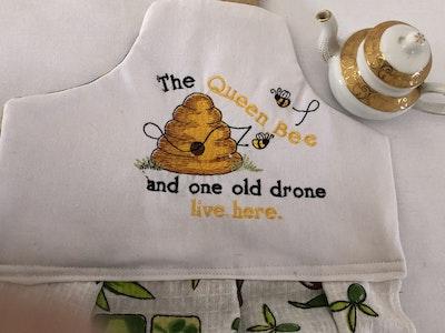 Two Olde Crows Bee Hive Double Tea Towel
