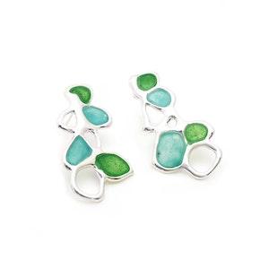 Vitro Blue and Green Earrings