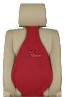 Universal Air Filled Multi Purpose Lumbar Back Support | Suede Red