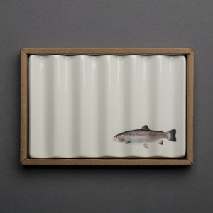 Soap Dish with Rainbow Trout