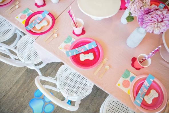 LENZO Hot Pink Fuchsia Partyware