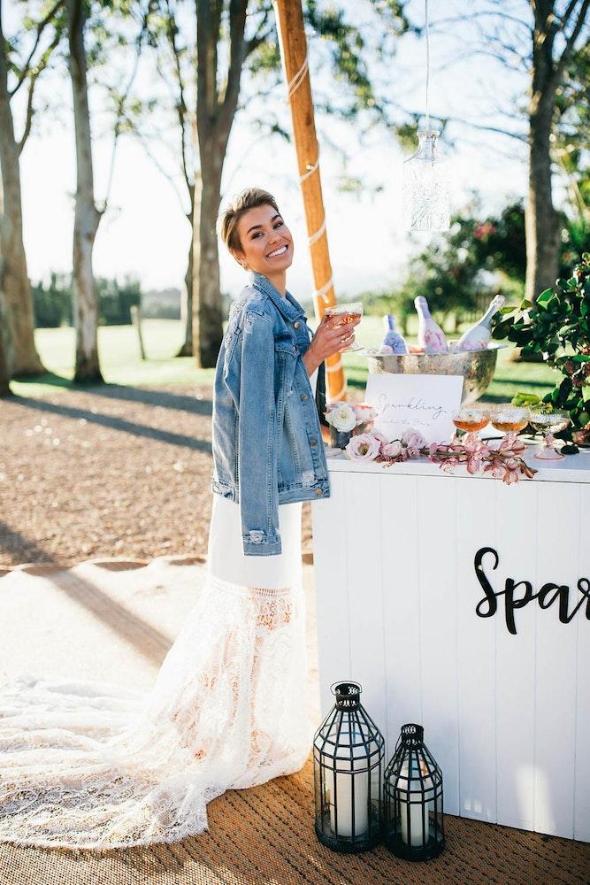 LENZO Boho Byron Bay Wedding Zoe Hoad Denim Jacket