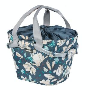 Basil Magnolia Carry All Front Basket Teal Blue