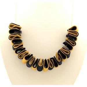 Karhina Blue and Mustard Folds Reborn - Necklace