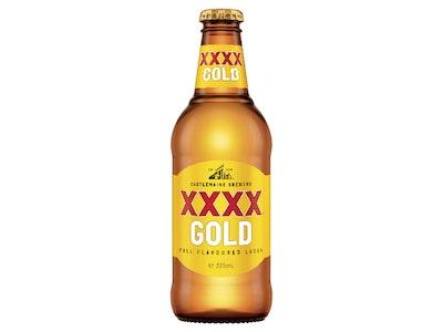 XXXX Gold Bottle 375mL