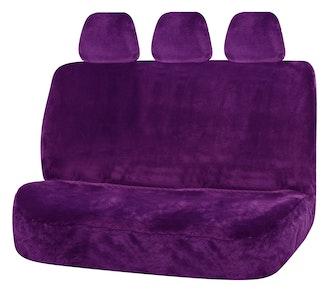 Universal Finesse Faux Fur Rear Seat Cover Size 06/08H | Purple