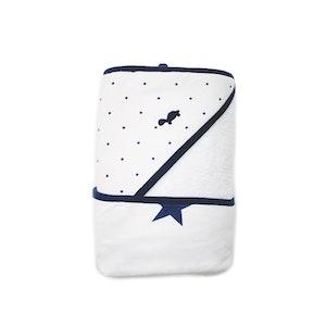 NEW! - Hooded Towel - Spots & Stars NAVY