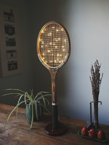 Quirky Vintage Tennis Racket Lamp